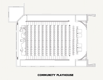 image of the Community Playhouse Floor Plan
