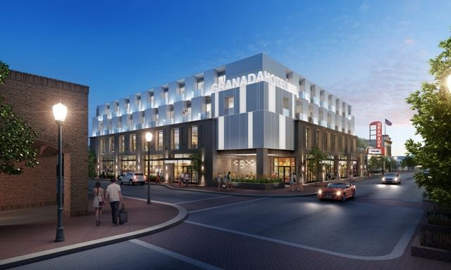 Rendering for the New Granada Hotel in Downtown Morgan Hill