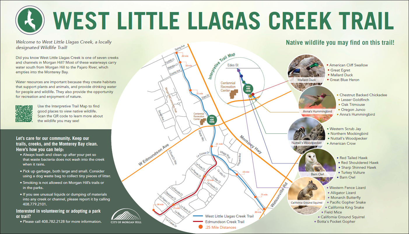 West Little Llagas Creek Sign